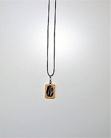 Náhrdelníky - Drevený náhrdelník - Black diamond - 10093101_