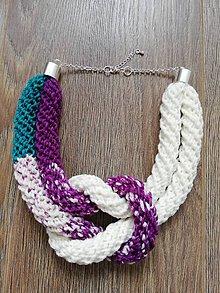 Náhrdelníky - Zimný náhrdelník  (Fialová) - 10090861_