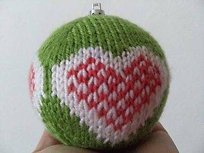 Dekorácie - Vianočná guľa pletená - 10092012_