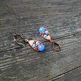 Náušnice - Náušnice Blue & Copper - 10090430_