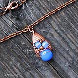 Náušnice - Náušnice Blue & Copper - 10090432_