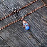 Náušnice - Náušnice Blue & Copper - 10090434_