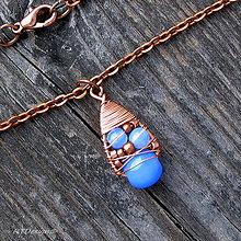 Náhrdelníky - Náhrdelník Blue & Copper - 10090403_