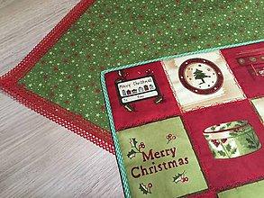 Úžitkový textil - Merry Christmas prestierky - 10090629_