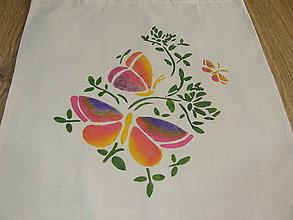 Nákupné tašky - Motýle ružové - 10091779_