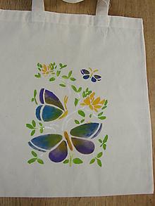 Nákupné tašky - Motýle fialové - 10091833_