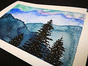Obrazy - Pohľadnica - Vianočná krajina - 10090509_