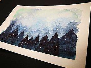 Obrazy - Pohľadnica - Snehovy les - 10090597_