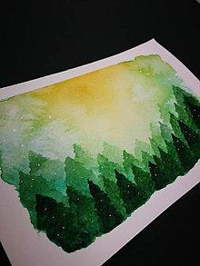 Obrazy - Pohľadnica - Zelený les - 10090625_