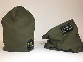 Detské čiapky - Čiapka warmkeeper dvojvrstvová - Revel khaki - 10091263_