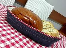 Košíky - Košíček na chlebík z recy rifľoviny  - 10090343_