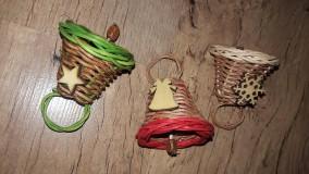 Košíky - Vianočné zvončeky - 10089998_