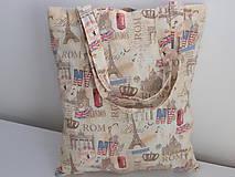 Nákupné tašky - ...Paris,London,Rom... - 10091001_