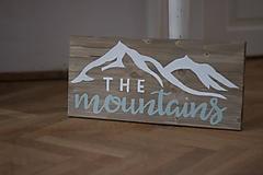 Tabuľky - Mountains - predaná (44x20cm - Zelená) - 10090197_