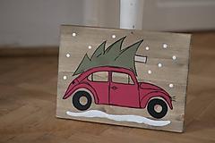 Tabuľky - Christmas car - predané - 10090744_
