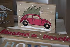 Tabuľky - Christmas car - 10090745_