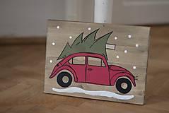Tabuľky - Christmas car - 10090749_