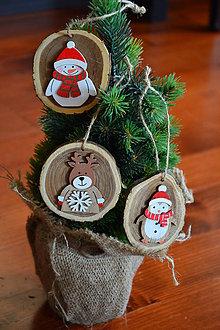 Dekorácie - Rozprávkové vianočné ozdoby 8cm - sada 3 kusov - 10090435_