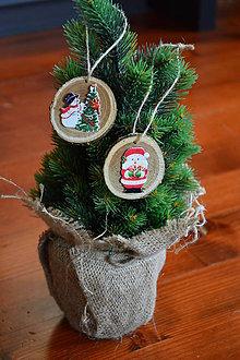 Dekorácie - Rozpávkové vianočné ozdoby na stromček - sada 2 kusov - 10090440_