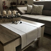 Úžitkový textil - vianočné štóly vzor strieborná  140 x 40 cm  (40 x 140 cm bodka  - Strieborná) - 10094899_