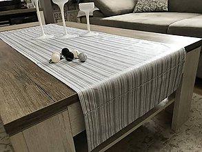 Úžitkový textil - vianočné štóly vzor strieborná  140 x 40 cm  (40 x 140 cm - Strieborná) - 10095219_