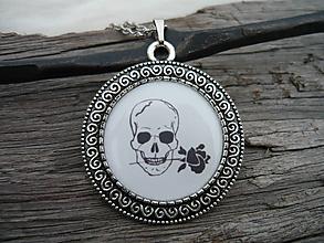 Náhrdelníky - TOTÁLNY VÝPREDAJ! Náhrdelník Skull and Rose - 10097822_