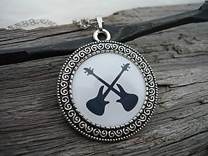 Náhrdelníky - TOTÁLNY VÝPREDAJ! Náhrdelník Rock Guitars - 10097877_