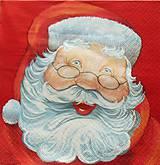 - S1350 - Servítky - Vianoce, santa claus, dedo mráz - 10095100_