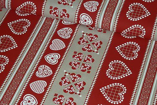 efdfac754 Látka Srdiečková štóla červená / SlovAB - SAShE.sk - Handmade Textil