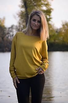 Svetre/Pulóvre - Volný svetřík ve žluté - 10095208_