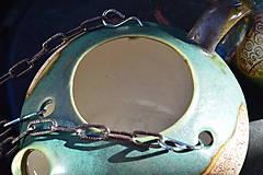 Nádoby - Keramický kvetináč zelený, medienkový, čajník, závesný :o)) III. - 10095637_