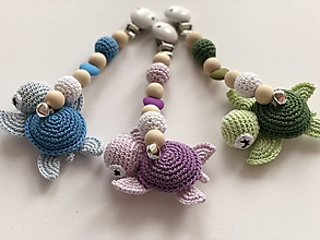 Hračky - Pastelové hrýzatko s korytnačkou / Pastel teether with turtle (Modrá) - 10094378_