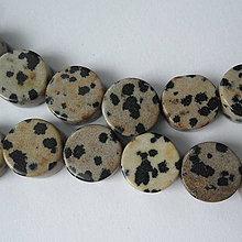 Minerály - Minerály-lentilky-1ks (12mm-jaspis dalmatin) - 10096295_
