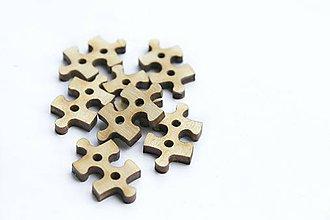 Galantéria - Drevené puzzle - 10095593_