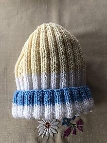 Detské čiapky - Trojfarebná čiapkao - 10096409_