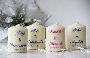Svietidlá a sviečky - Adventné sviečky - 10094471_
