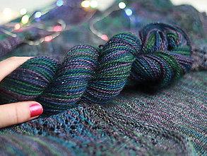 Galantéria - PRECIOUS - ručne farbená vlna  (Glitter base 50g/170m) - 10094971_