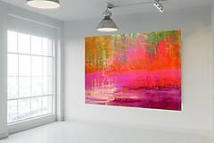 Obrazy - Šípkové lány - XXL abstraktný obraz - 10096449_