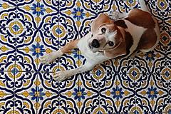 Dekorácie - Kachličky Barcelona - modrá/ žltá - 10096396_