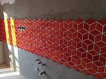 Dekorácie - Diamanty stredné - ohnivá oranžová - 10096437_