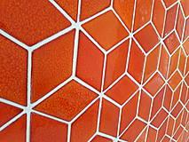 Dekorácie - Diamanty stredné - ohnivá oranžová - 10096438_