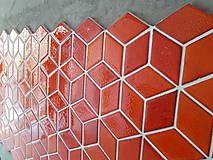 Dekorácie - Diamanty stredné - ohnivá oranžová - 10096439_