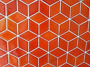 Dekorácie - Diamanty stredné - ohnivá oranžová - 10096435_