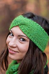 Čiapky - Čelenka zelená - 10095032_