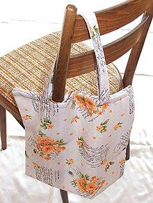 Nákupné tašky - Taška - oranžové ruže - 10095760_