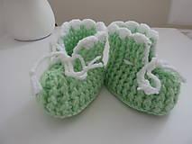 Topánočky - Háčkované papučky - 10096783_