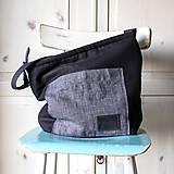 - Čierna ľanová taška - 10095031_