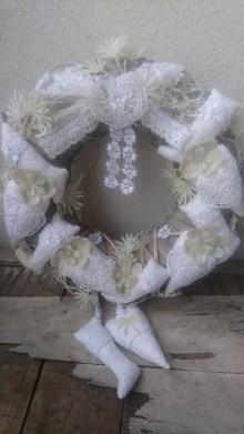 Dekorácie - Venček vianočný vintage samá cipks - 10095239_