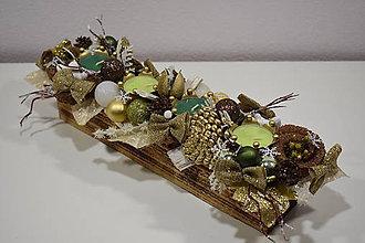 Svietidlá a sviečky - Adventný svietnik: Vianočná fantázia 30405 - 10096878_