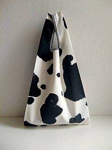 Nákupné tašky - Nákupná taška (Čierno-biela) - 10098046_